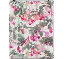 Rainbow Fuchsia Floral Pattern - with grey iPad Case/Skin