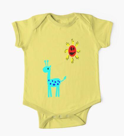 Giraffe One Piece - Short Sleeve