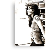 Funkified Female Canvas Print