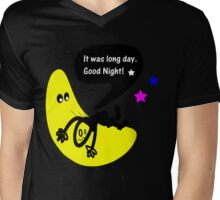 It was long day. Goodnight Mens V-Neck T-Shirt