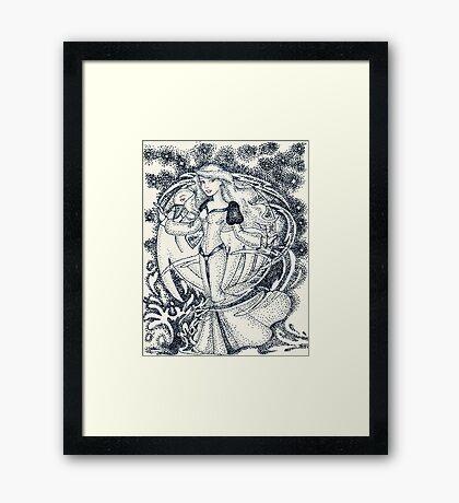 Iconic O Framed Print