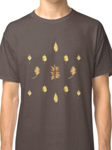 Autumn Leaves Pattern On Black Classic T-Shirt