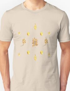 Autumn Leaves Pattern On Black Unisex T-Shirt