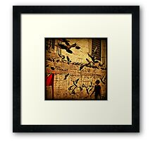 Grounded Pigeon Framed Print