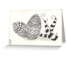 Zentangle eggs Greeting Card