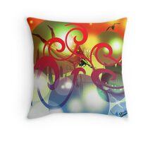 Diver Bubbles Throw Pillow