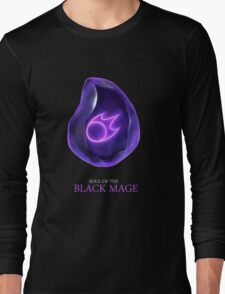 Soul of the Black Mage -black Long Sleeve T-Shirt