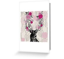 The Stag & Roses Greeting Card