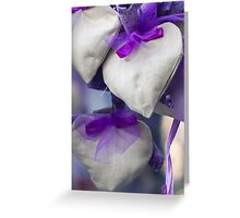 handmade heart and lavender Greeting Card