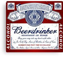 Beerdrinker Parody Beer Logo Canvas Print