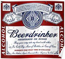 Beerdrinker Parody Beer Logo Poster