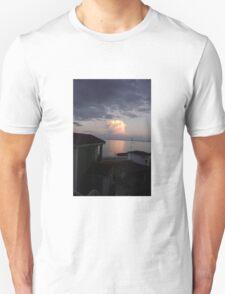 Sun reflection caught  on cloud - Skala Kafelonia Greece T-Shirt