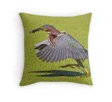 Exit, stage left  Throw Pillow