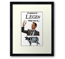Barney Legendary Dairy Framed Print
