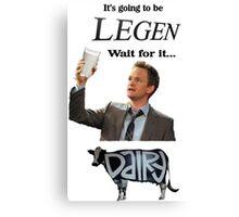 Barney Legendary Dairy Canvas Print