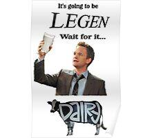 Barney Legendary Dairy Poster
