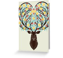Blooming Deer Spring Greeting Card