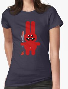 RABBIT 2  (Cute pet with a sharp knife!) Womens Fitted T-Shirt