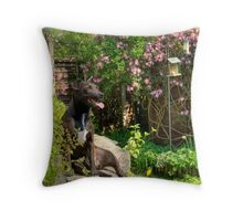 The  Side-Saddle Terrier Throw Pillow