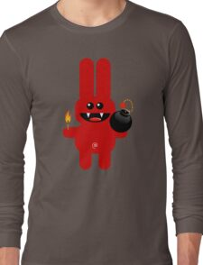 RABBIT 4  (Cute pet has a bomb and its alight!) Long Sleeve T-Shirt
