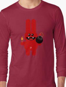RABBIT 4  (Cute pet has a bomb and its alight!) Long Sleeve T-Shirt