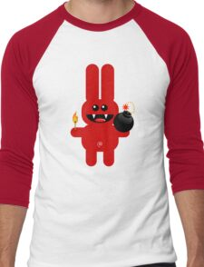 RABBIT 4  (Cute pet has a bomb and its alight!) Men's Baseball ¾ T-Shirt