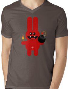 RABBIT 4  (Cute pet has a bomb and its alight!) Mens V-Neck T-Shirt