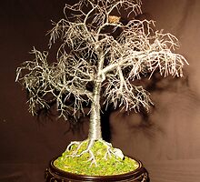 Winter Bird Nest - Wire Tree Sculpture, by Sal Villano by Sal Villano