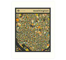 WASHINGTON MAP Art Print