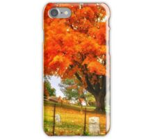 Fall on Cemetery Road iPhone Case/Skin