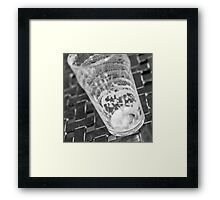 empty beer glass Framed Print