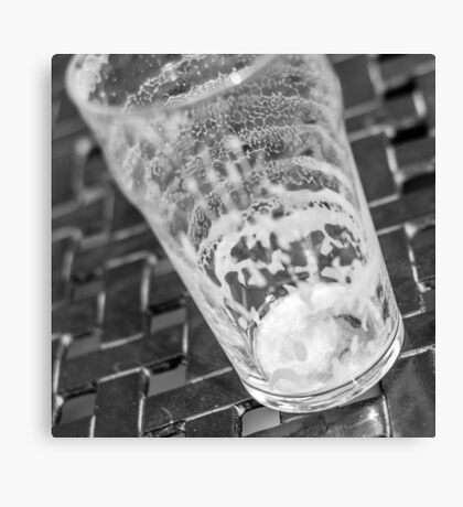 empty beer glass Canvas Print