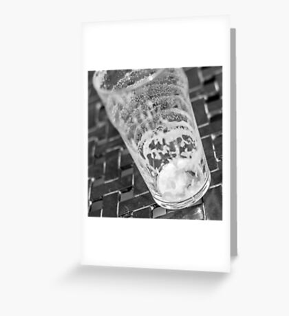 empty beer glass Greeting Card