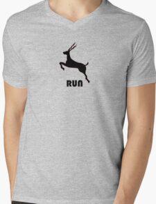 Antelope Black Mens V-Neck T-Shirt