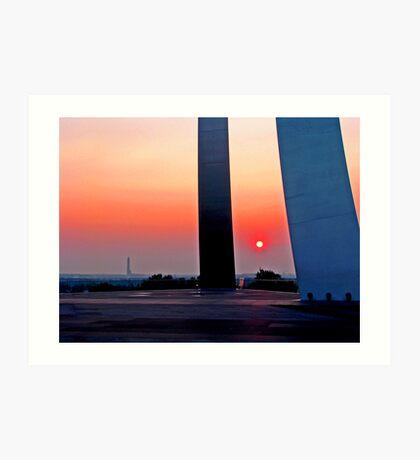 Air Force Memorial Sunrise Art Print