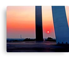 Air Force Memorial Sunrise Canvas Print