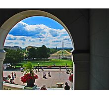 a view of the National Mall Photographic Print