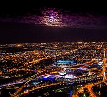 Blood Moon Rising Over Melbourne Victoria by sjphotocomau