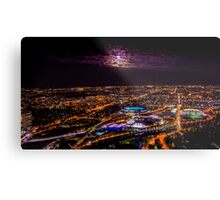 Blood Moon Rising Over Melbourne Victoria - 28 Sep 2015 Metal Print