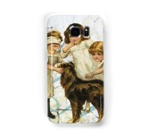 Victorian Children Playing Hide Seek With Dog Samsung Galaxy Case/Skin