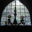 Sunlight on the church-window by Arie Koene