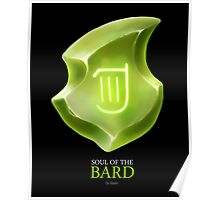 Soul of the Bard -black Poster