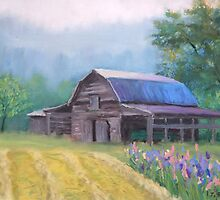 Mountain Barn by Jane Best