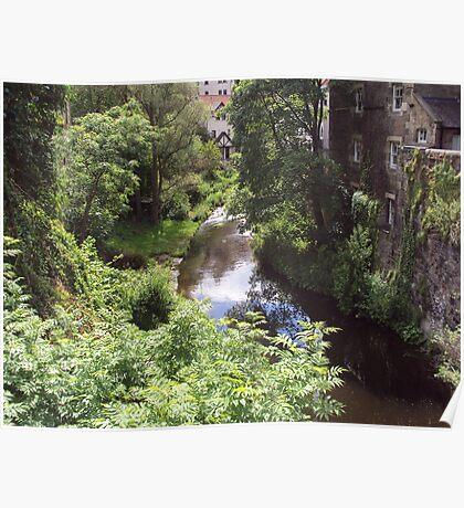 Water of Leith running through Dean Village Poster