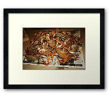 Maryland Hot Steamed Crabs Framed Print