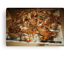 Maryland Hot Steamed Crabs Canvas Print