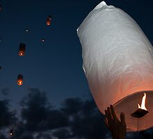 Letting Go - Paper Lanterns by Karen Martin