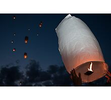 Letting Go - Paper Lanterns Photographic Print