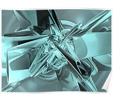 Turquoise Reflections Poster