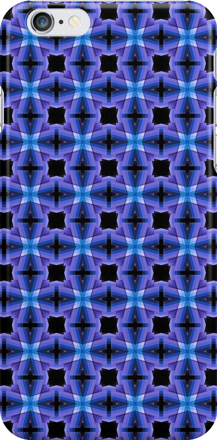 Blue Checkers Pattern by Phil Perkins